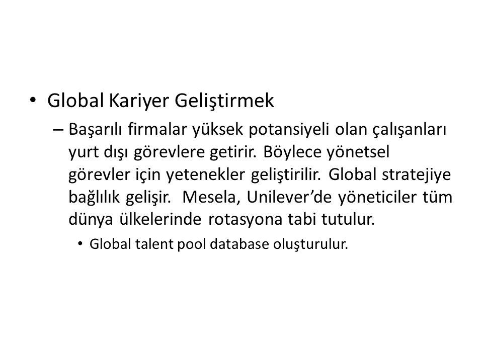 Global Kariyer Geliştirmek