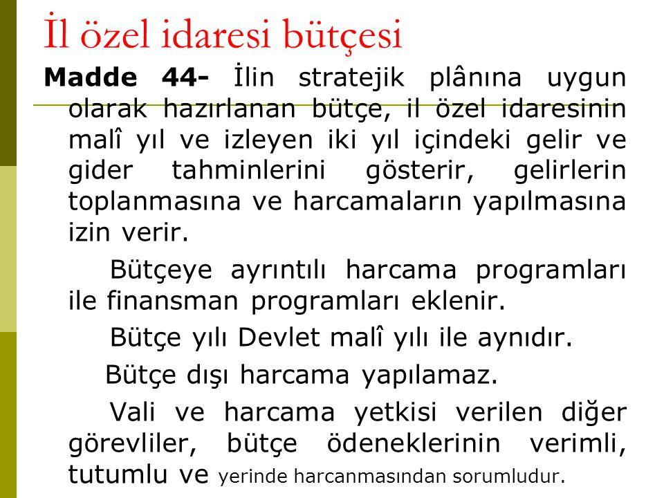 İl özel idaresi bütçesi