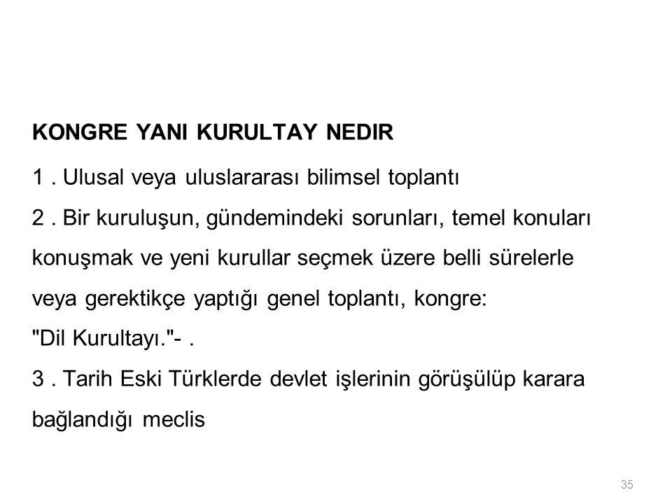 KONGRE YANI KURULTAY NEDIR