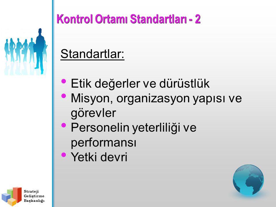 Kontrol Ortamı Standartları - 2