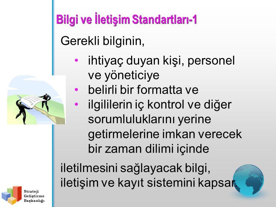 Bilgi ve İletişim Standartları-1