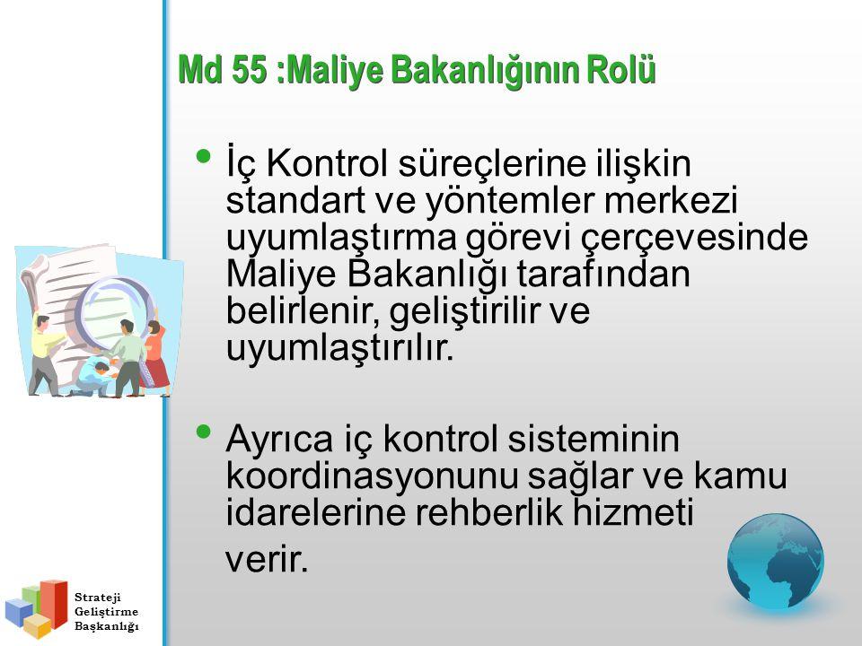 Md 55 :Maliye Bakanlığının Rolü