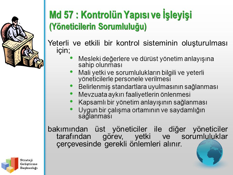 Md 57 : Kontrolün Yapısı ve İşleyişi (Yöneticilerin Sorumluluğu)