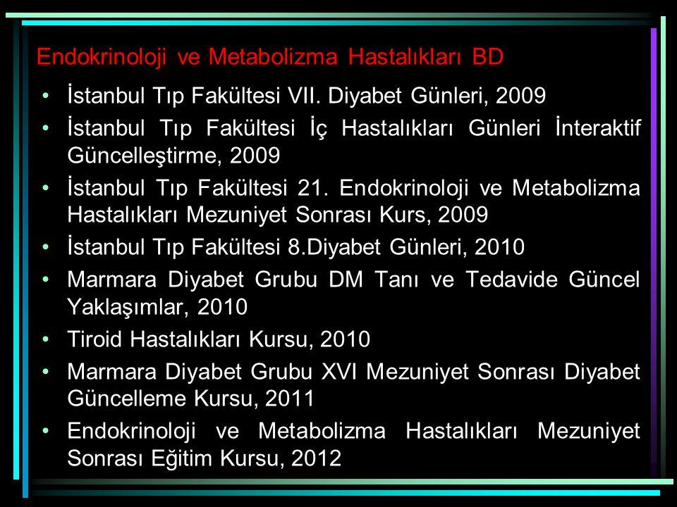 Endokrinoloji ve Metabolizma Hastalıkları BD
