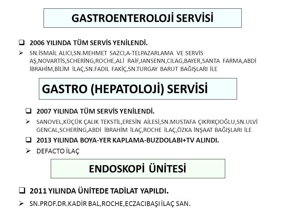GASTROENTEROLOJİ SERVİSİ