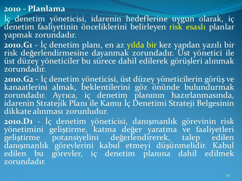 2010 - Planlama