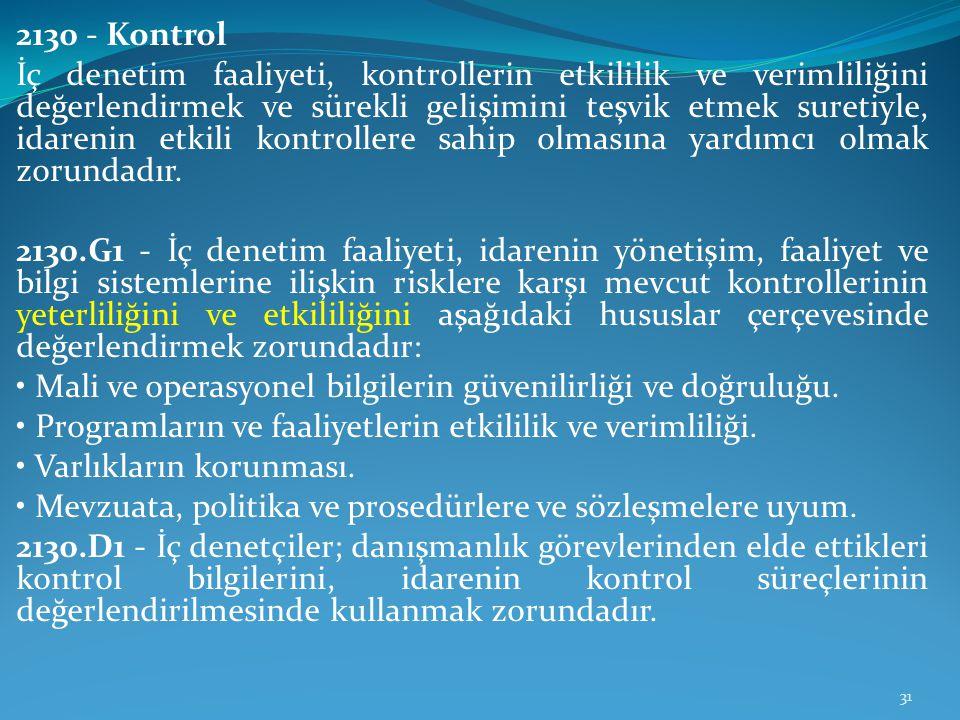 2130 - Kontrol