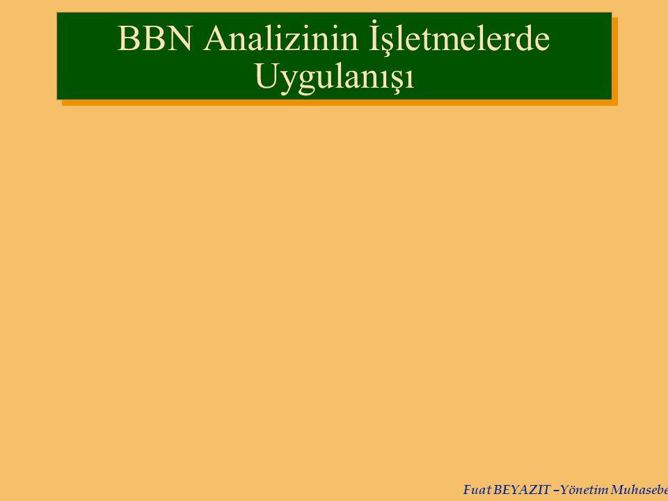 BBN Analizinin İşletmelerde Uygulanışı
