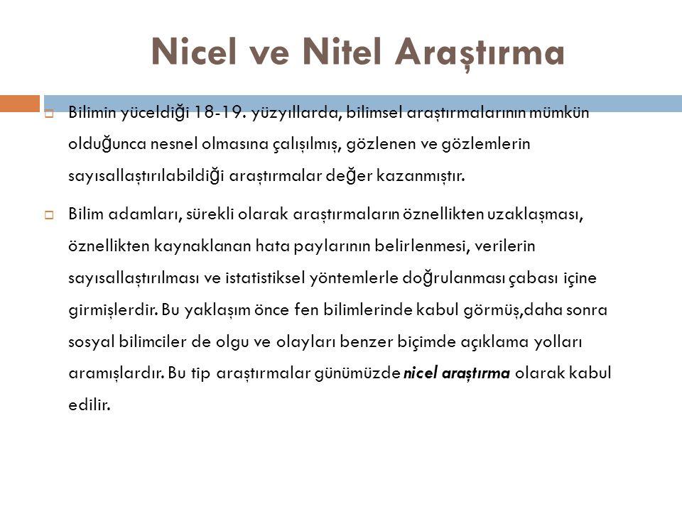 Nicel ve Nitel Araştırma