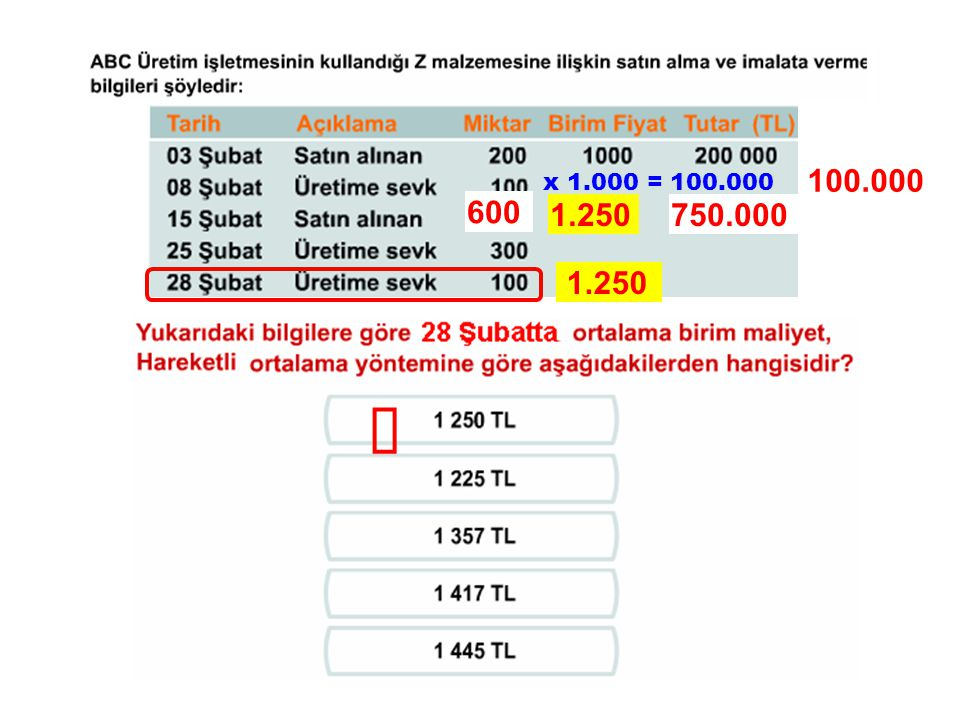 100.000 x 1.000 = 100.000 600 1.250 750.000 1.250 ü