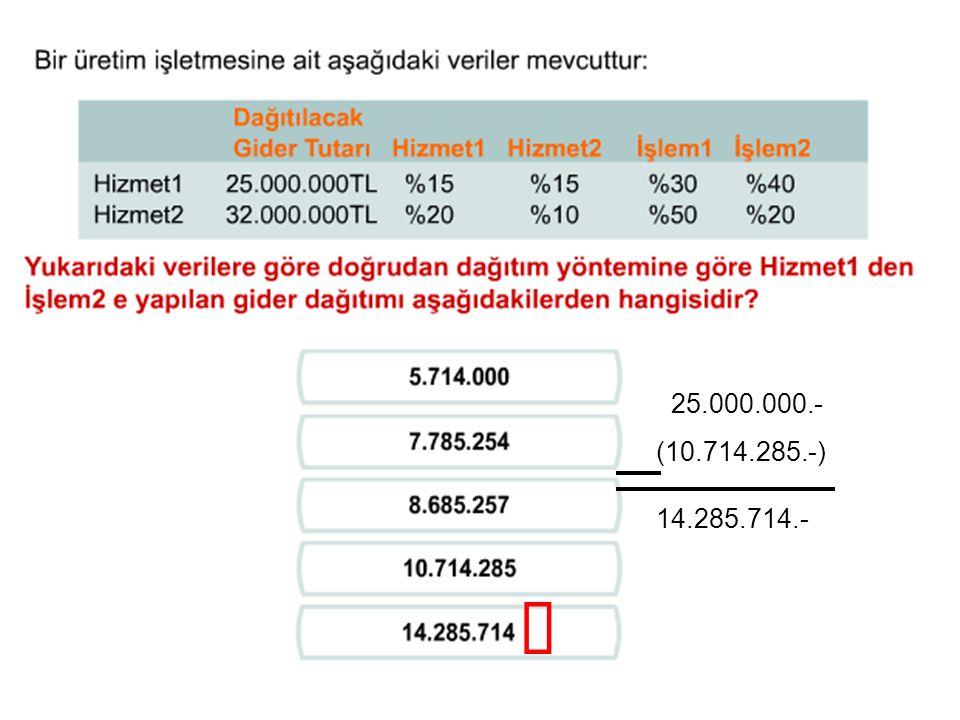 25.000.000.- (10.714.285.-) 14.285.714.- ü