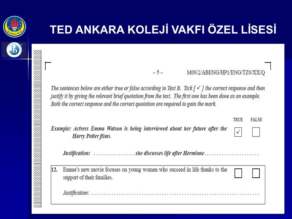 TED ANKARA KOLEJİ VAKFI ÖZEL LİSESİ