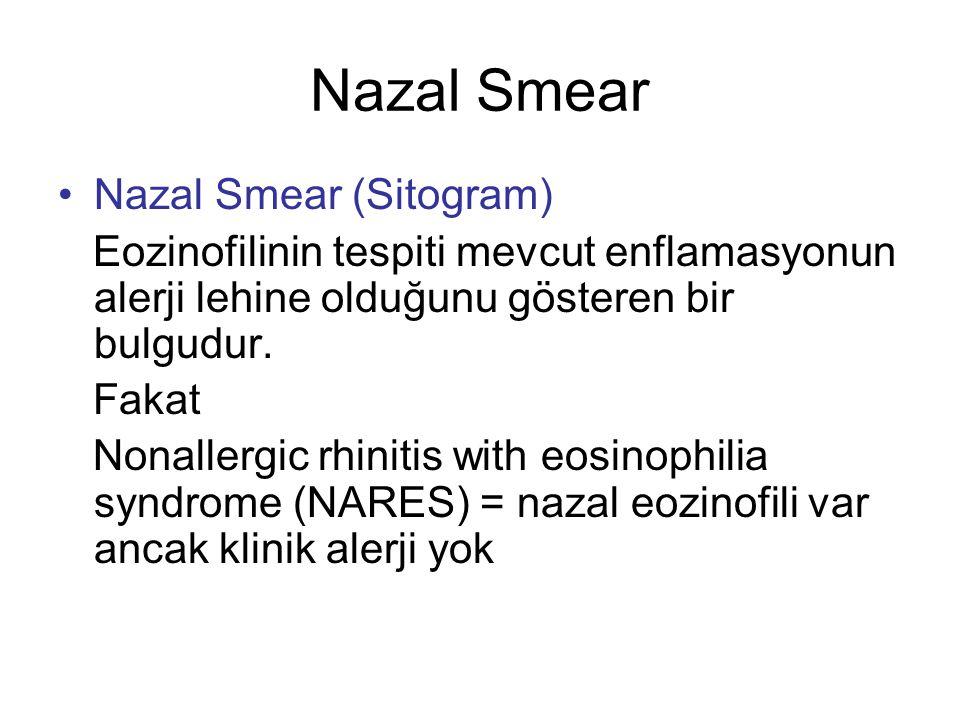 Nazal Smear Nazal Smear (Sitogram)