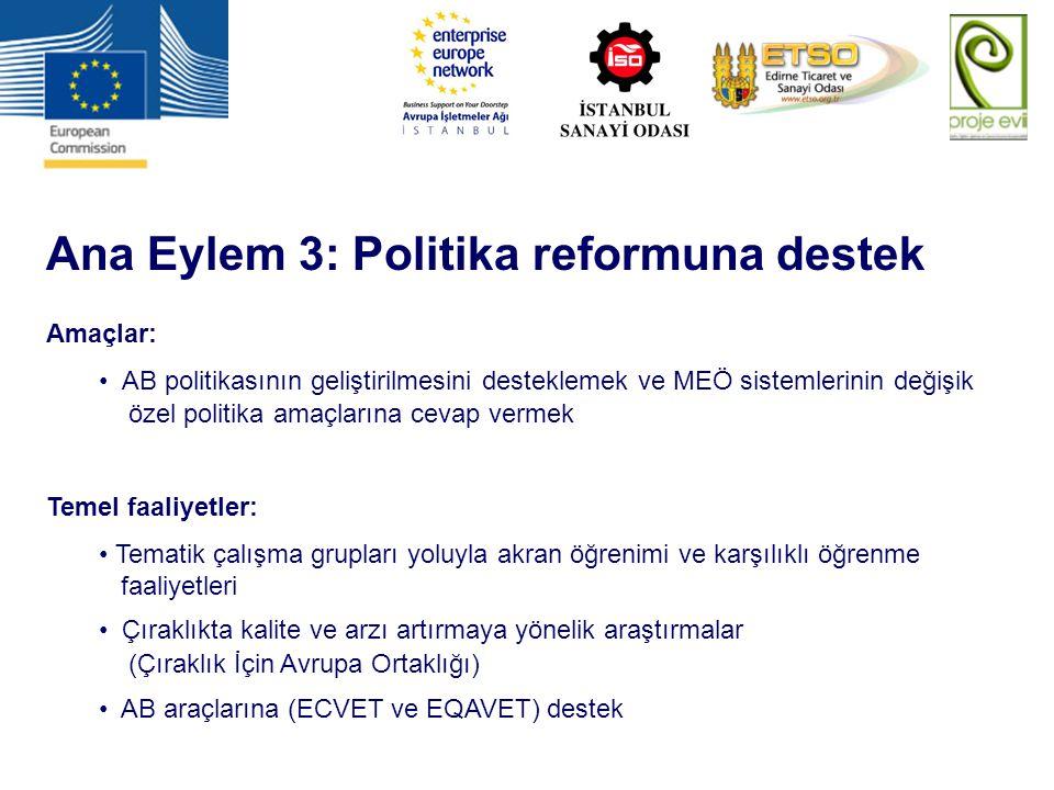 Ana Eylem 3: Politika reformuna destek