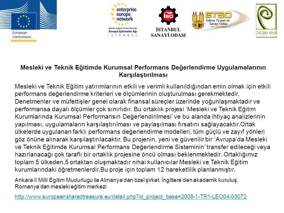 Mesleki ve Teknik Eğitimde Kurumsal Performans Değerlendirme Uygulamalarının Karşılaştırılması