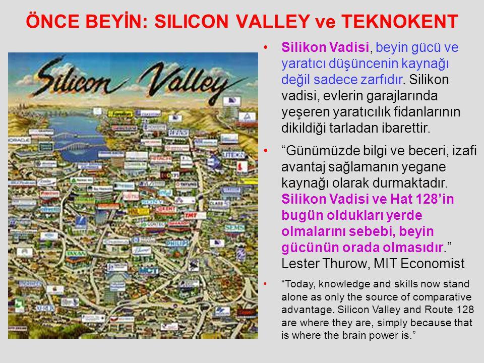 ÖNCE BEYİN: SILICON VALLEY ve TEKNOKENT