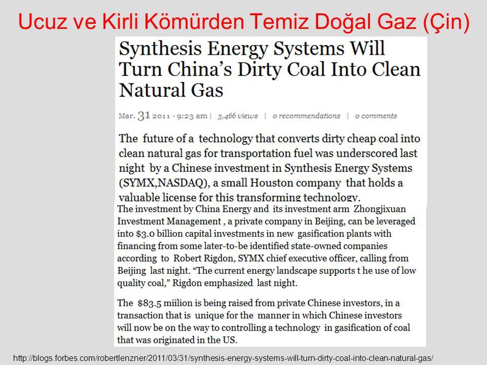 Ucuz ve Kirli Kömürden Temiz Doğal Gaz (Çin)