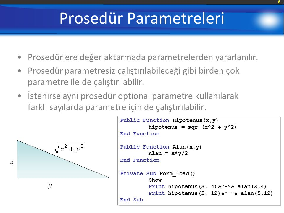 Prosedür Parametreleri