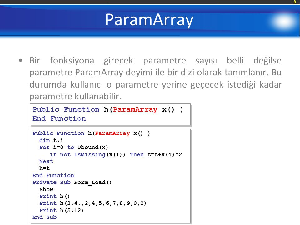 ParamArray