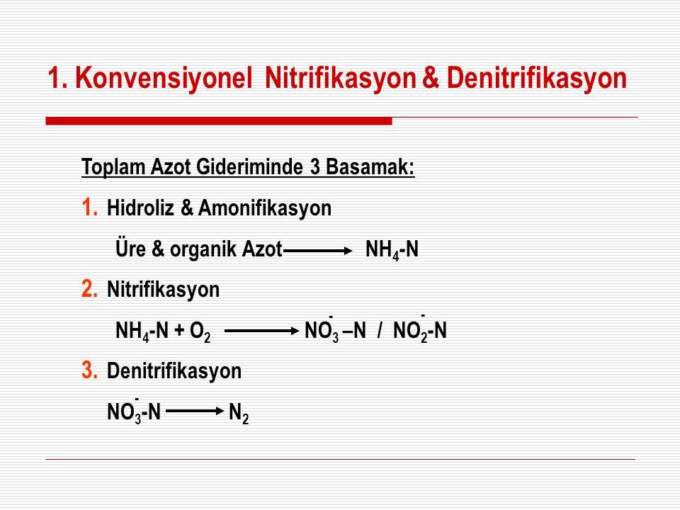 1. Konvensiyonel Nitrifikasyon & Denitrifikasyon