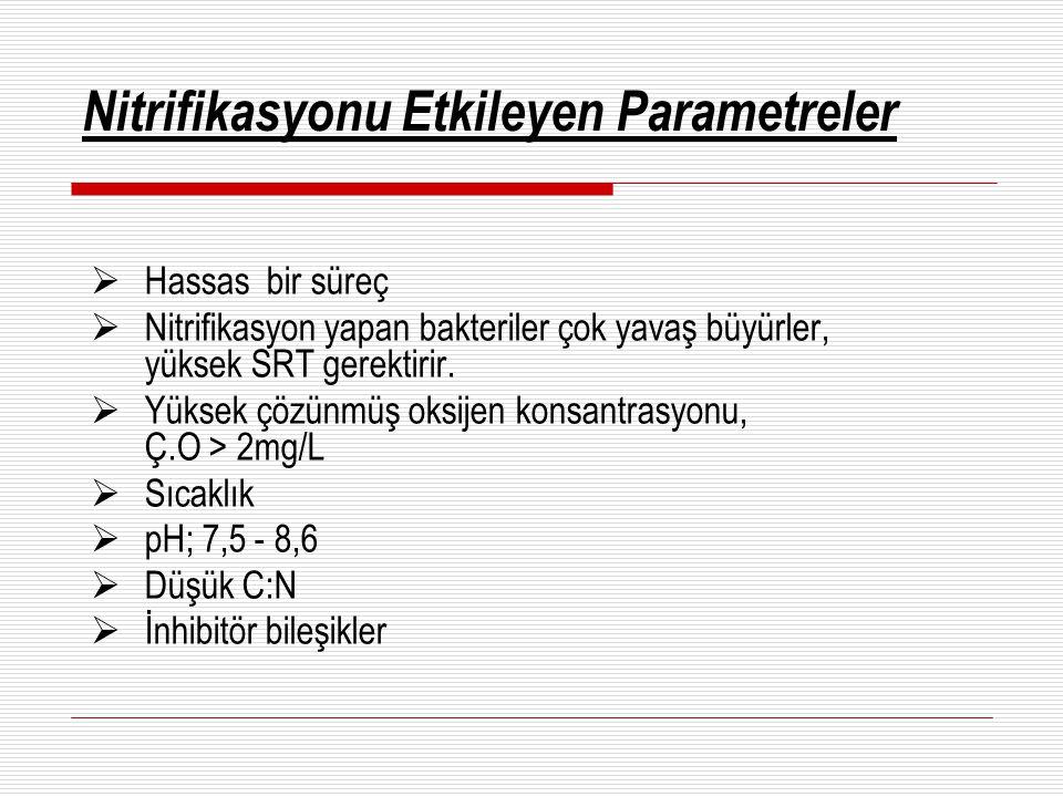 Nitrifikasyonu Etkileyen Parametreler