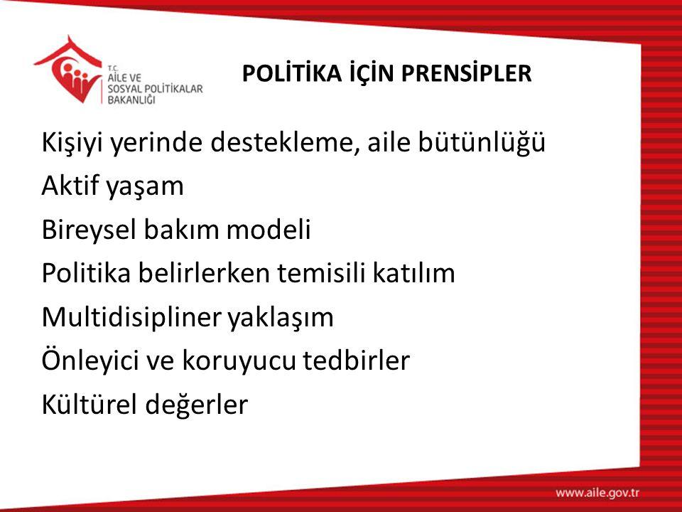 POLİTİKA İÇİN PRENSİPLER