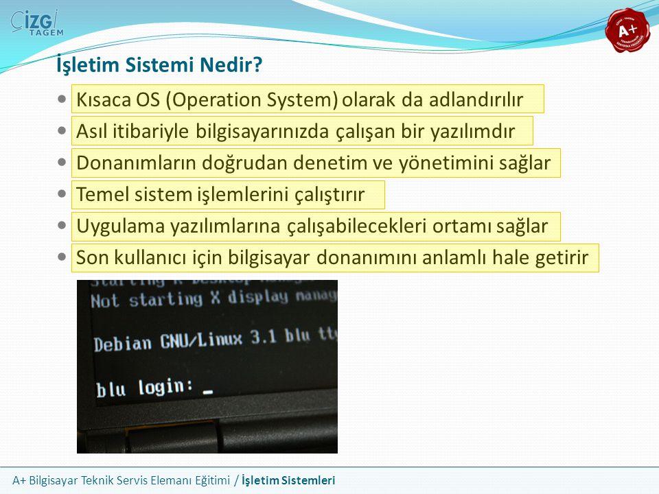 İşletim Sistemi Nedir Kısaca OS (Operation System) olarak da adlandırılır. Asıl itibariyle bilgisayarınızda çalışan bir yazılımdır.