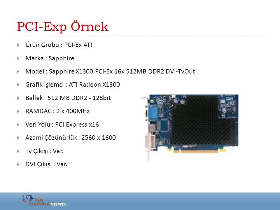 PCI-Exp Örnek Ürün Grubu : PCI-Ex ATI Marka : Sapphire