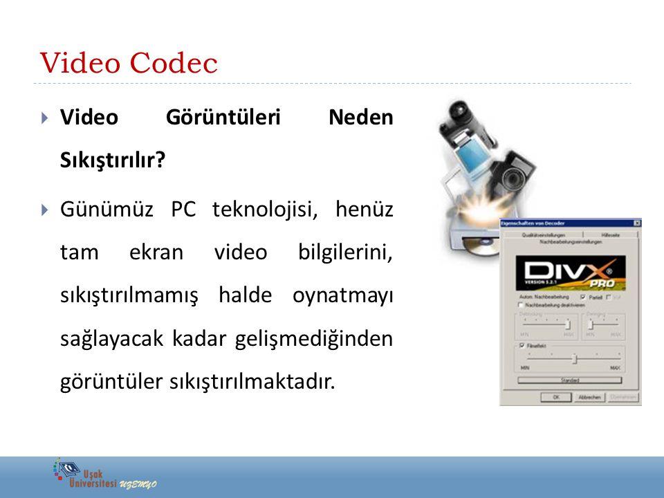 Video Codec Video Görüntüleri Neden Sıkıştırılır