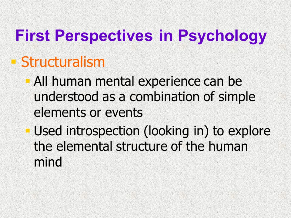 First Perspectives in Psychology
