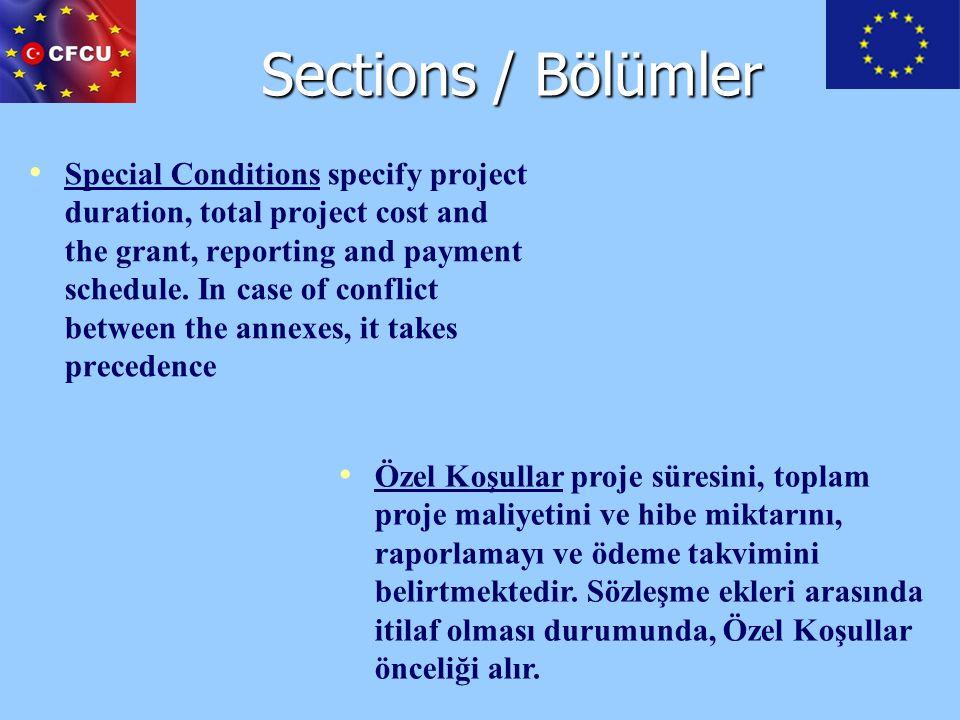 Sections / Bölümler