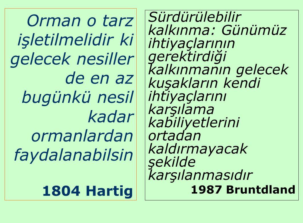 Orman o tarz işletilmelidir ki gelecek nesiller de en az bugünkü nesil kadar ormanlardan faydalanabilsin 1804 Hartig