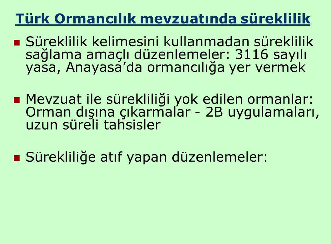 Türk Ormancılık mevzuatında süreklilik