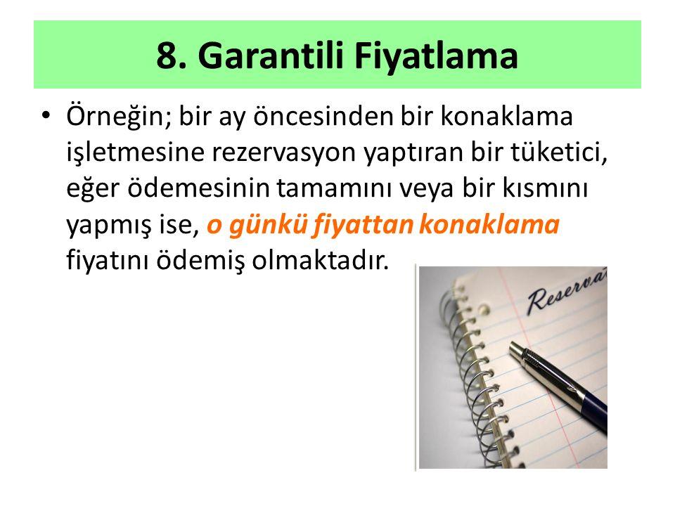 8. Garantili Fiyatlama