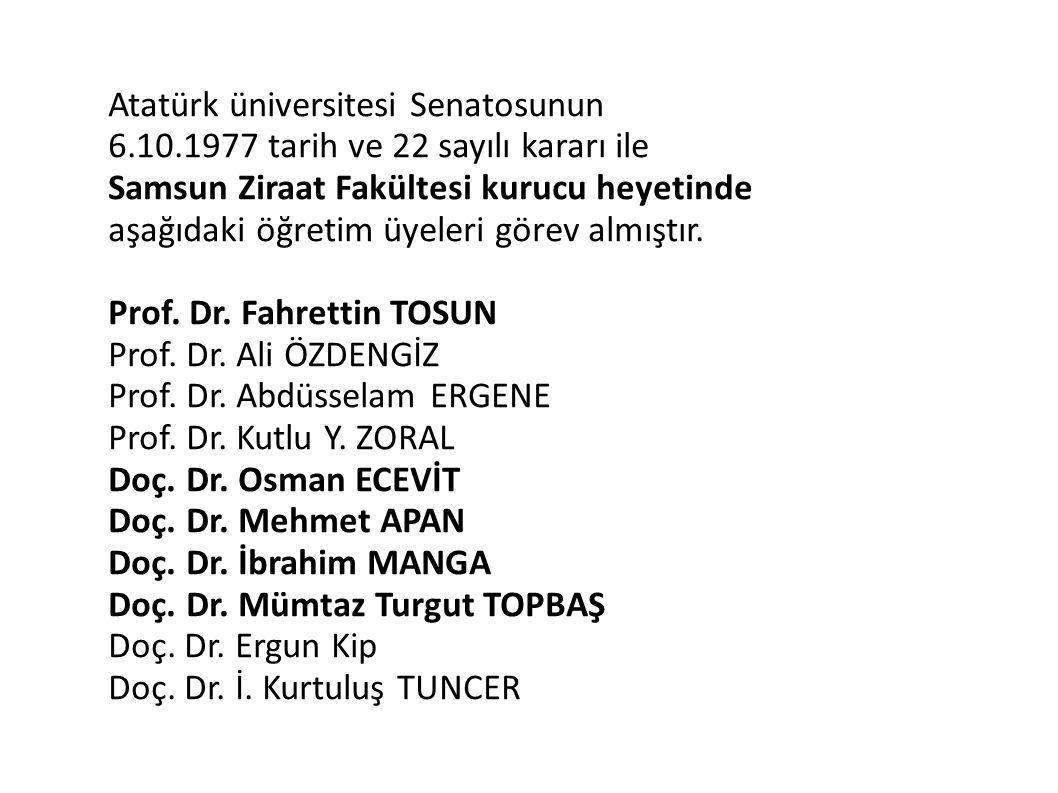 Atatürk üniversitesi Senatosunun