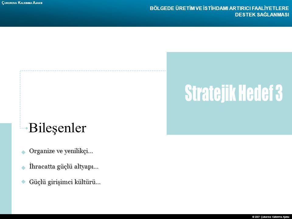 Stratejik Hedef 3 Bileşenler Organize ve yenilikçi…