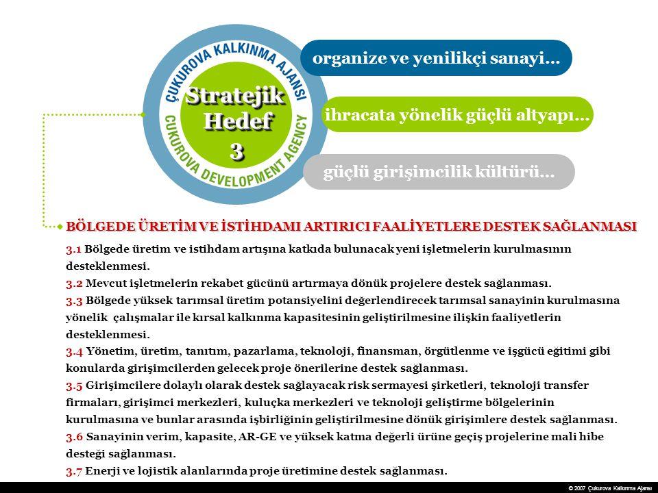 Stratejik Hedef 3 organize ve yenilikçi sanayi…