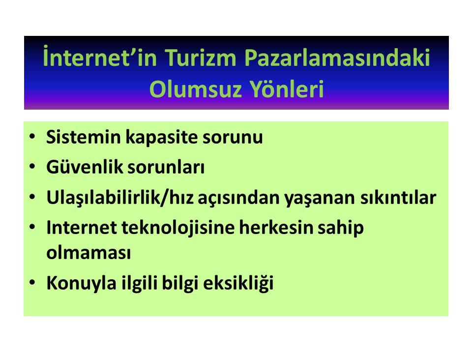 İnternet'in Turizm Pazarlamasındaki Olumsuz Yönleri