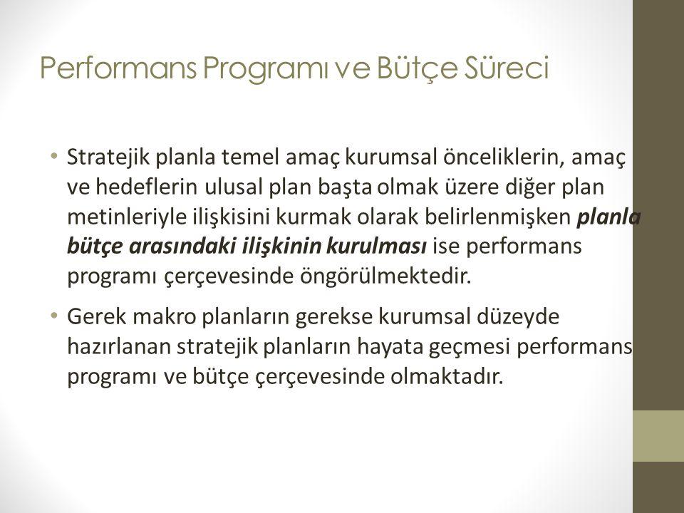 Performans Programı ve Bütçe Süreci