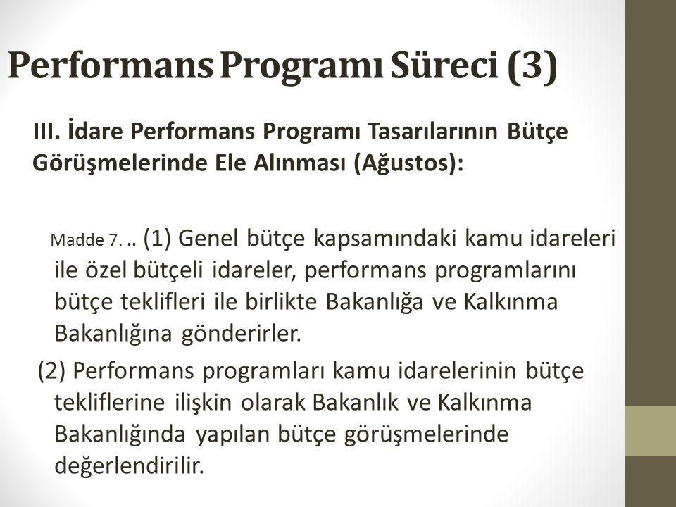 Performans Programı Süreci (3)