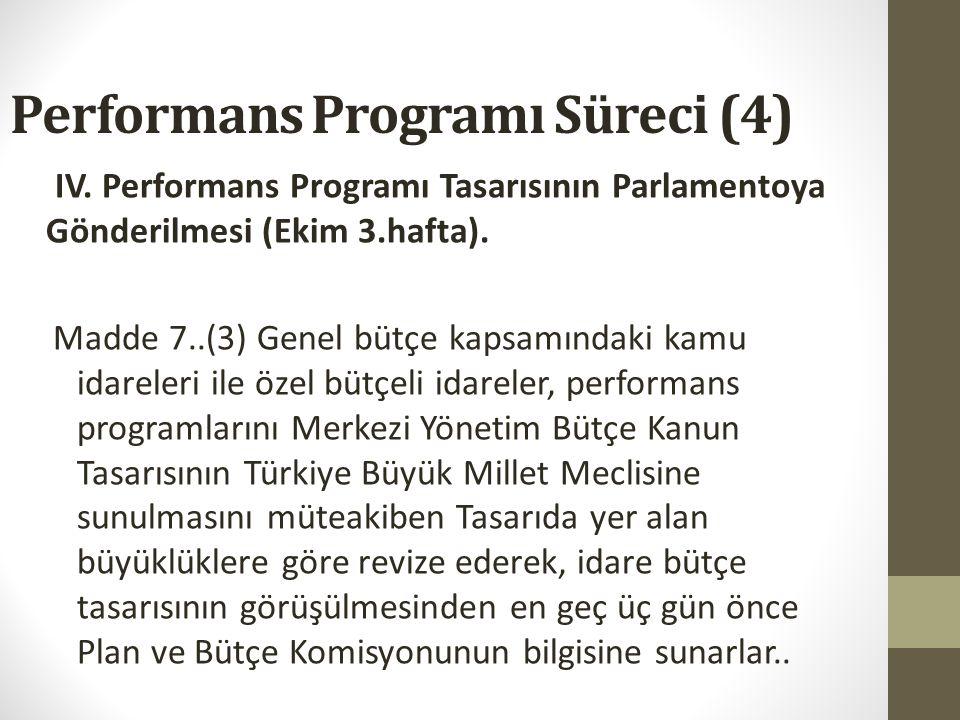 Performans Programı Süreci (4)