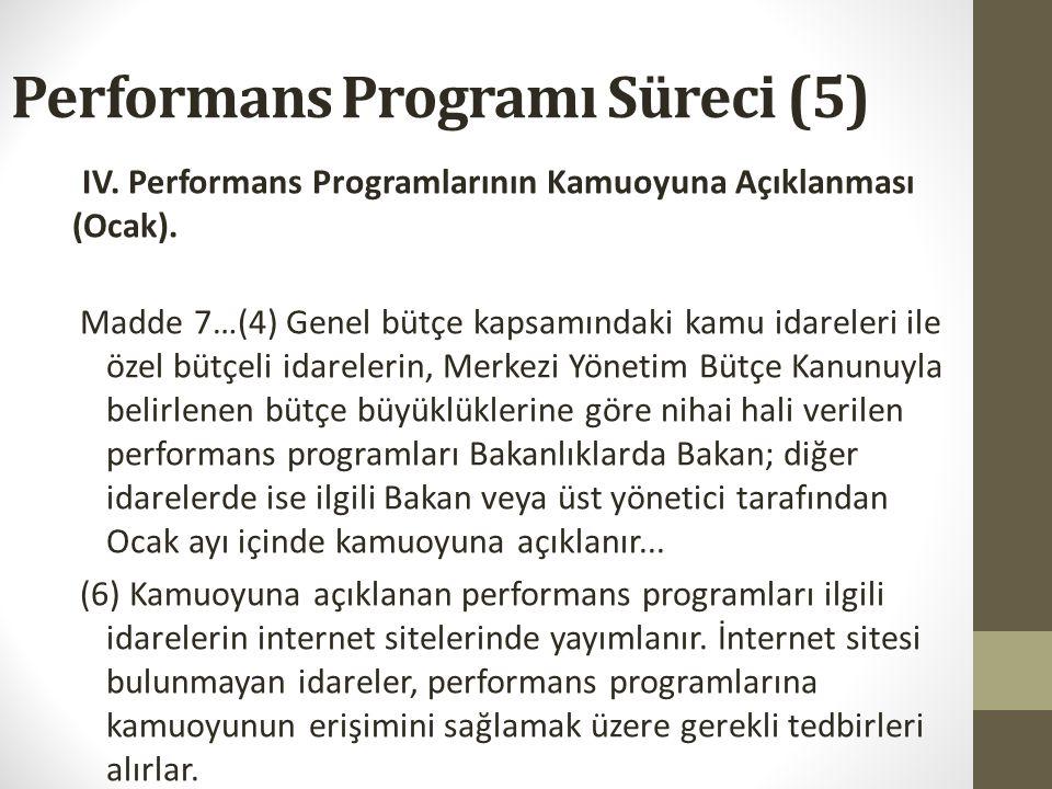 Performans Programı Süreci (5)