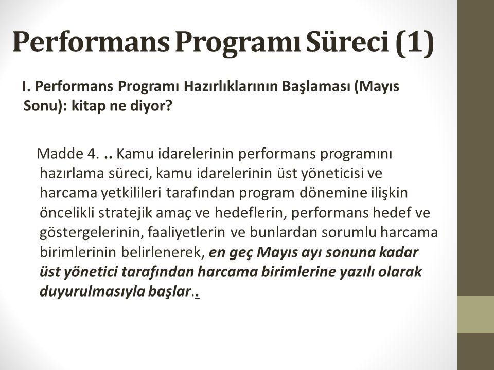 Performans Programı Süreci (1)