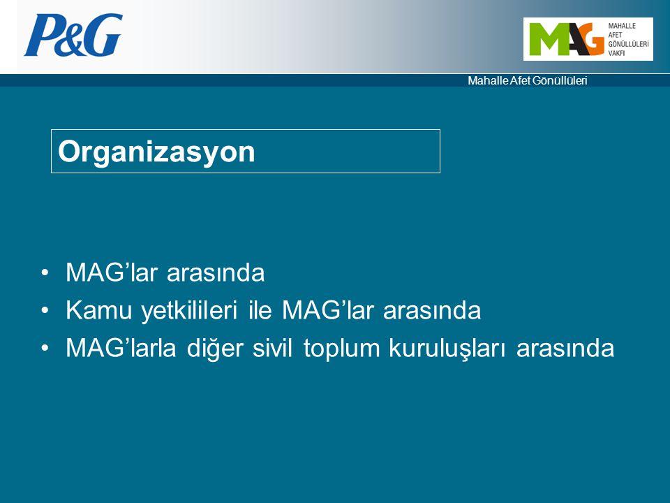 Organizasyon MAG'lar arasında Kamu yetkilileri ile MAG'lar arasında