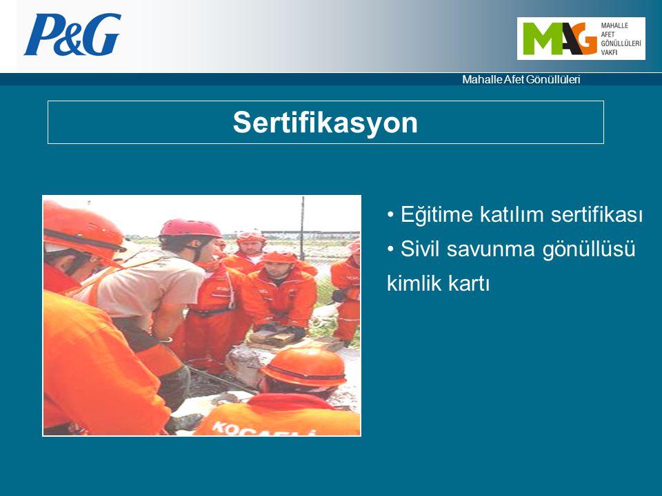 Sertifikasyon Eğitime katılım sertifikası