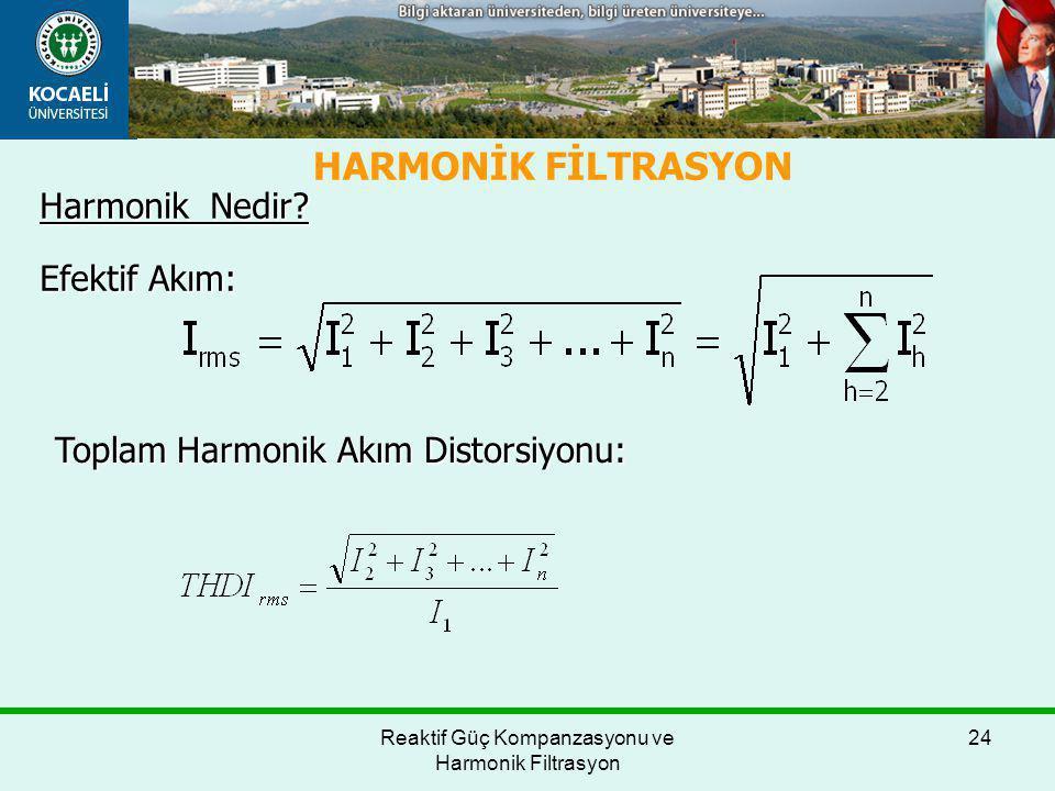 Reaktif Güç Kompanzasyonu ve Harmonik Filtrasyon