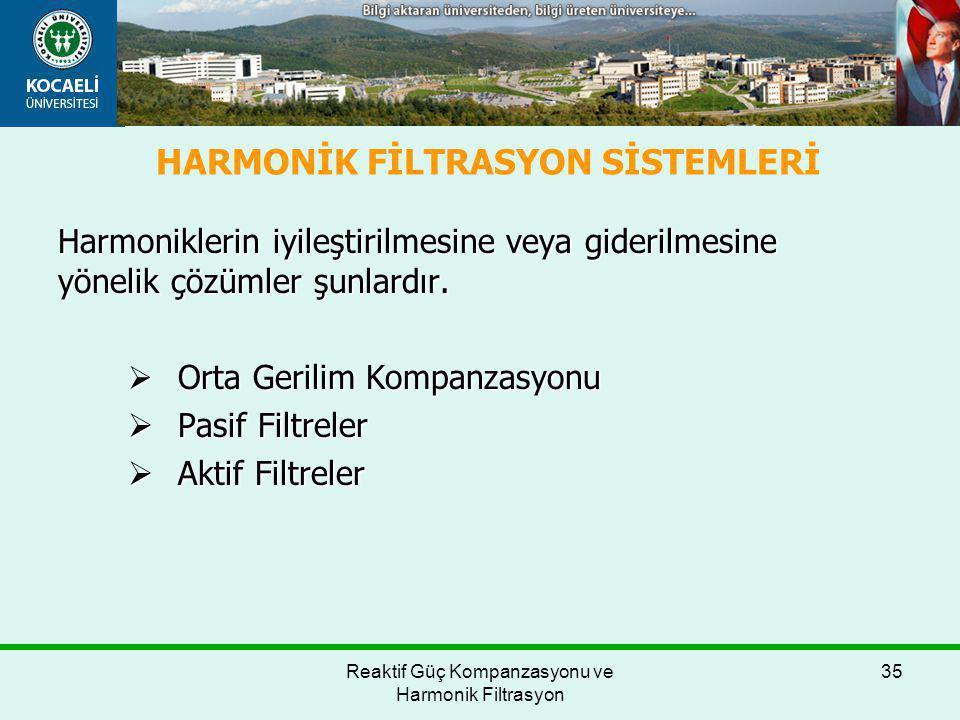 HARMONİK FİLTRASYON SİSTEMLERİ