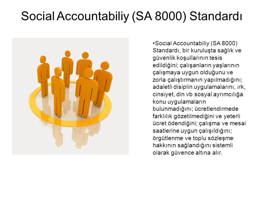 Social Accountabiliy (SA 8000) Standardı