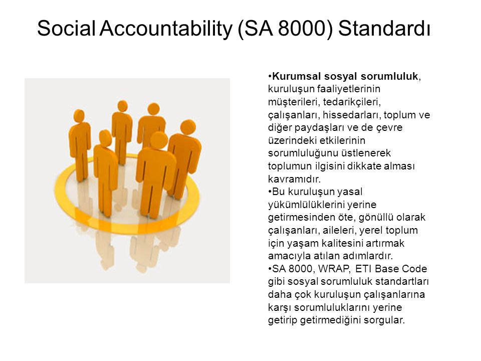Social Accountability (SA 8000) Standardı