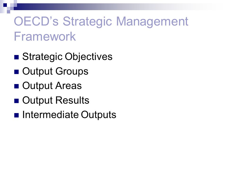OECD's Strategic Management Framework
